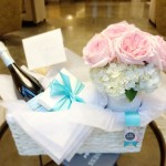 #37 ~ $179.00 ( Gift Basket: Champagne, Frans Chocolates and Flowers)